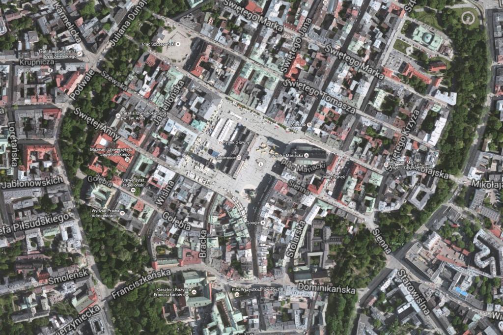 Kraków-google-maps